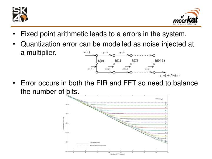 Fixed point arithmetic leads to a errors in the system.