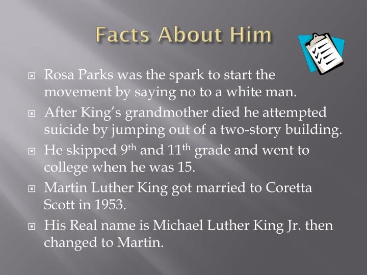 Facts about him