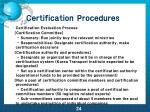 certification procedures1