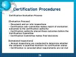certification procedures2