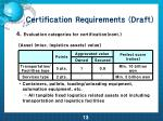 certification requirements draft10