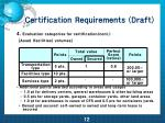 certification requirements draft9