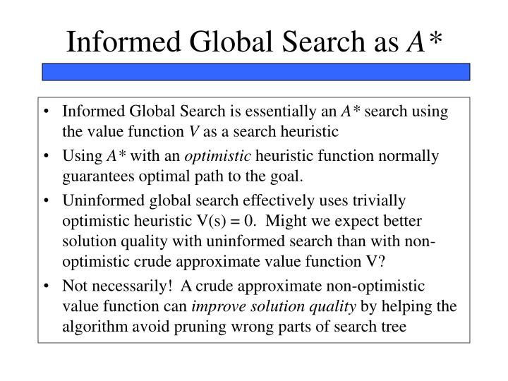 Informed Global Search as