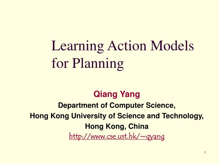 learning action models for planning n.