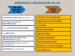 condiciones y restricciones de uso