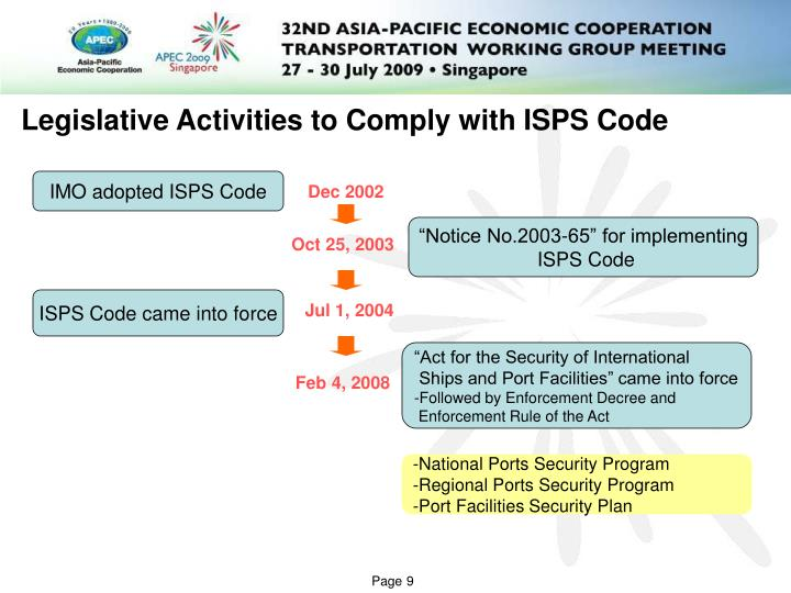 thesis on the isps code implementation A research paper submitted to college of law, government, and  the impacts  of isps code implementation at ptp have direct impacts such as cost.
