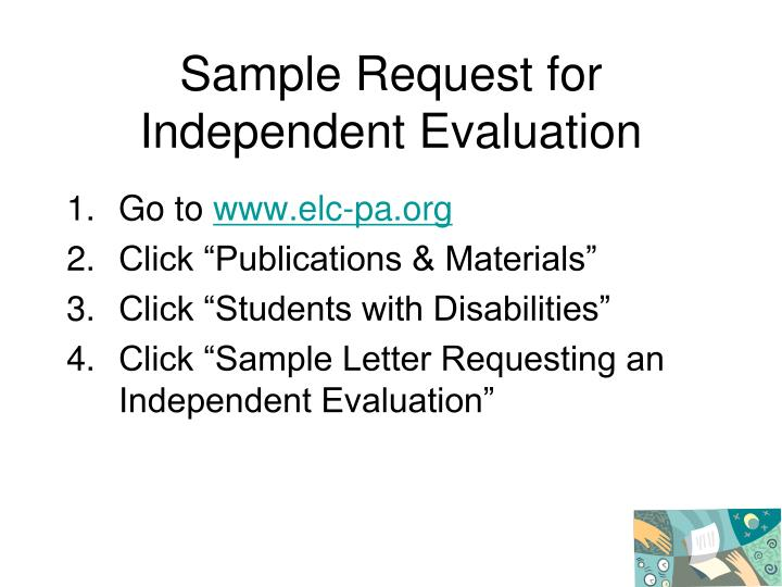 Request for special education evaluation sle letters pennsylvania request for special education evaluation sle letters pennsylvania ppt an insider s guide to special education spiritdancerdesigns Image collections