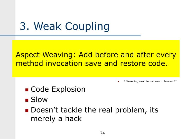 3. Weak Coupling