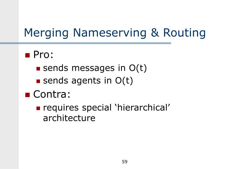Merging Nameserving & Routing