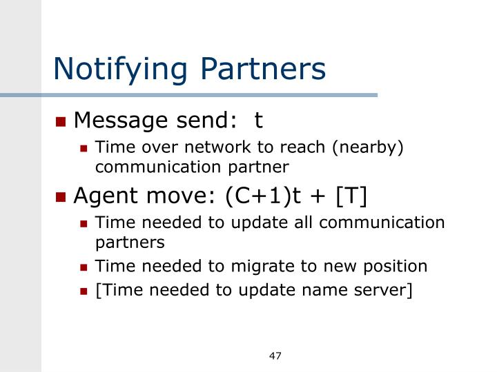 Notifying Partners