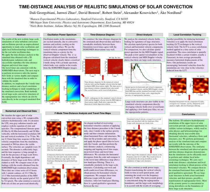 TIME-DISTANCE ANALYSIS OF REALISTIC SIMULATIONS OF SOLAR CONVECTION
