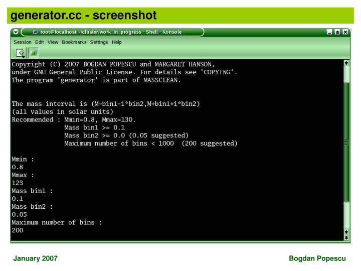generator.cc - screenshot