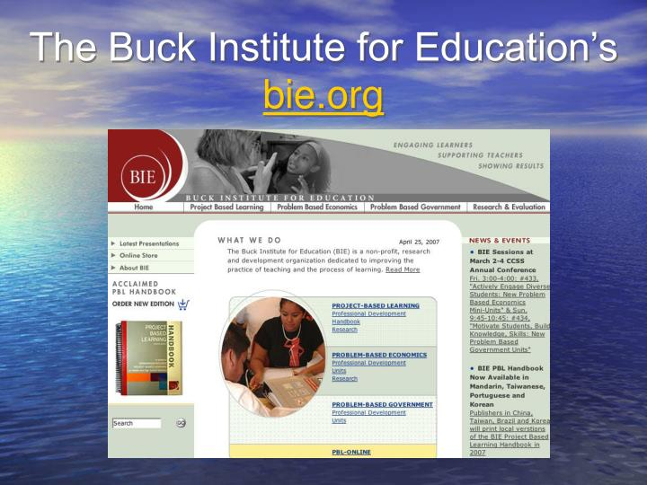 The Buck Institute for Education's