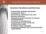 common functions and services