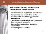 the importance of foundations in economic development