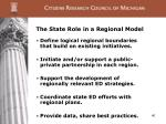 the state role in a regional model
