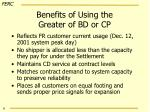 benefits of using the greater of bd or cp