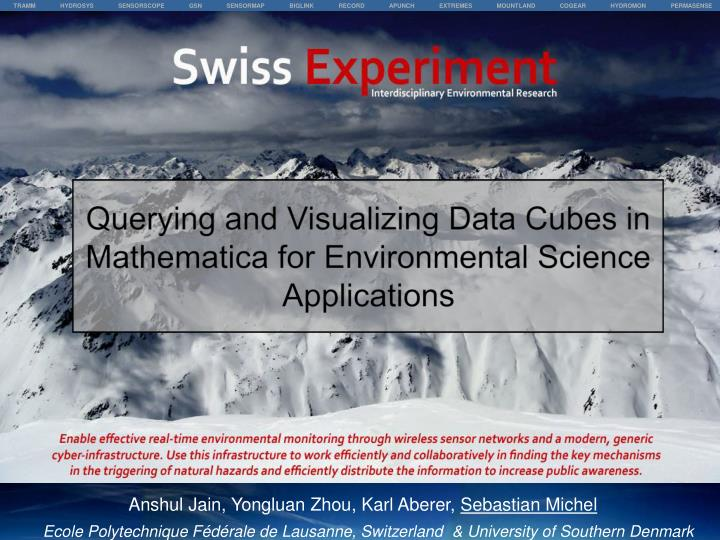 Querying and Visualizing Data Cubes in