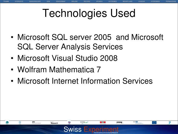 Microsoft SQL server 2005  and Microsoft SQL Server Analysis Services