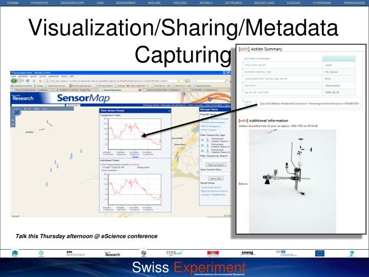 Visualization/Sharing/Metadata Capturing