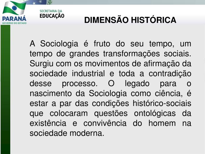 DIMENSÃO HISTÓRICA