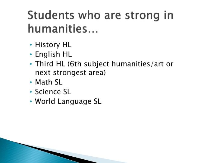 Students who are strong in