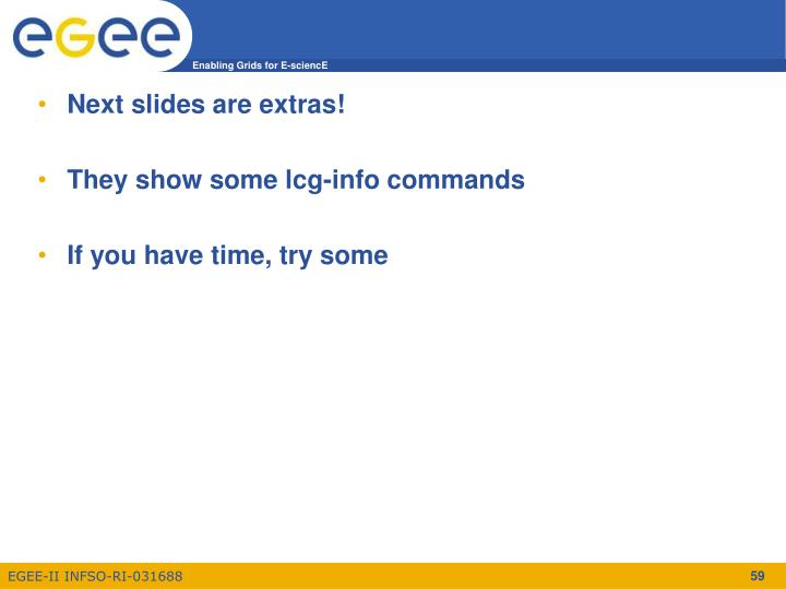 Next slides are extras!