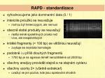 rapd standardizace