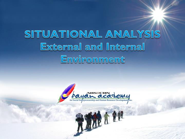 situational analysis external and internal environment n.