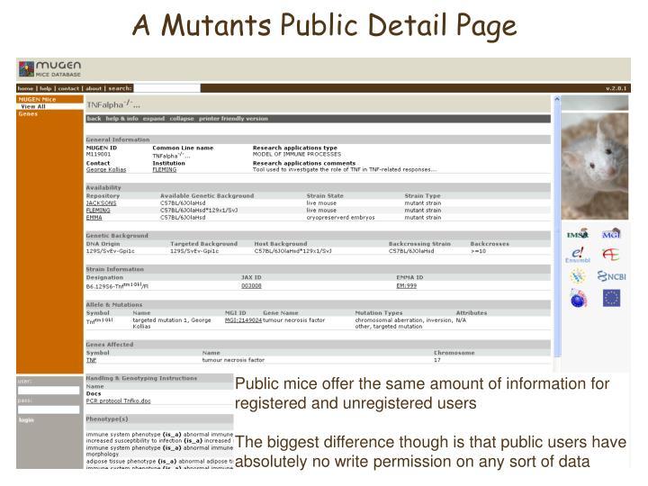 A Mutants Public Detail Page