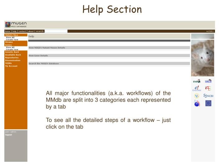 Help Section