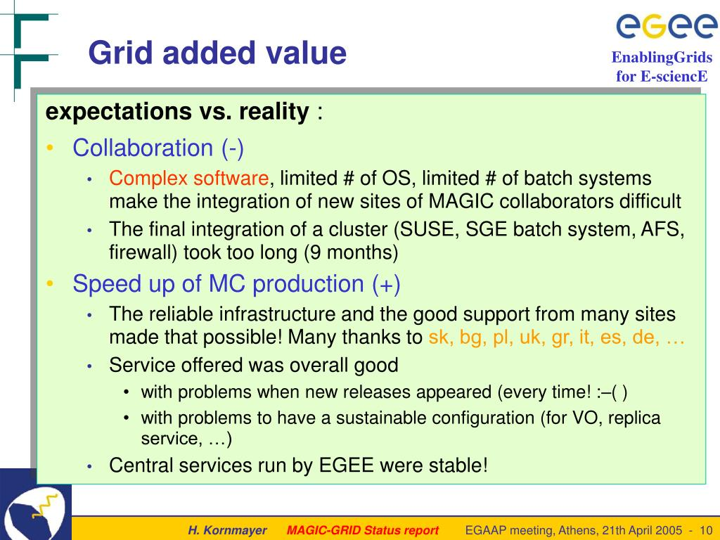PPT - Benefits of the MAGIC Grid Status report of an EGEE