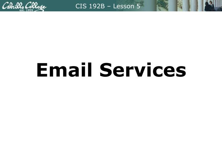 email services n.