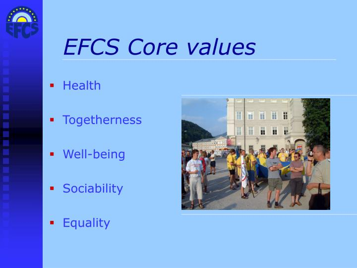 EFCS Core values
