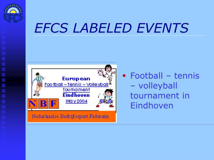 EFCS LABELED EVENTS