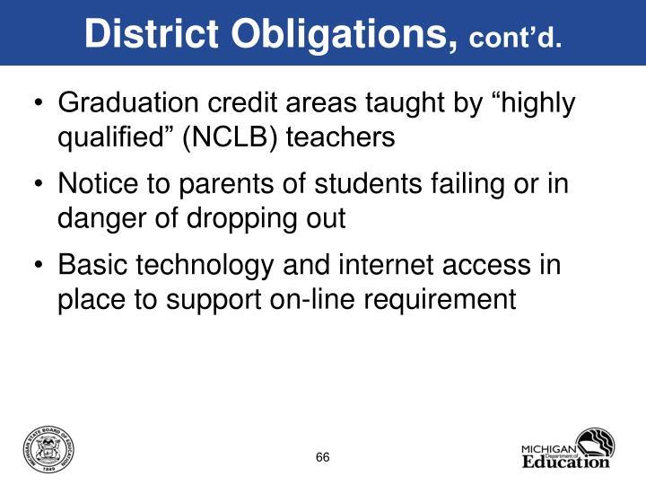 District Obligations,