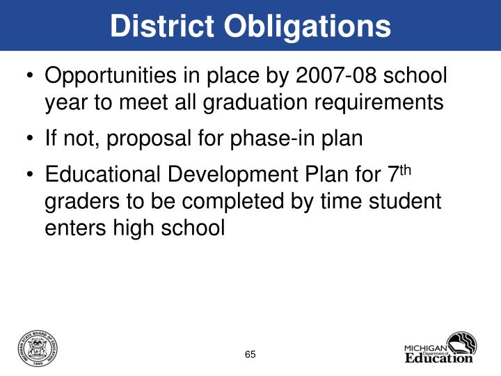 District Obligations