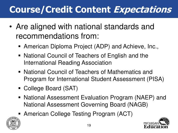 Course/Credit Content