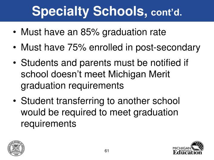 Specialty Schools,