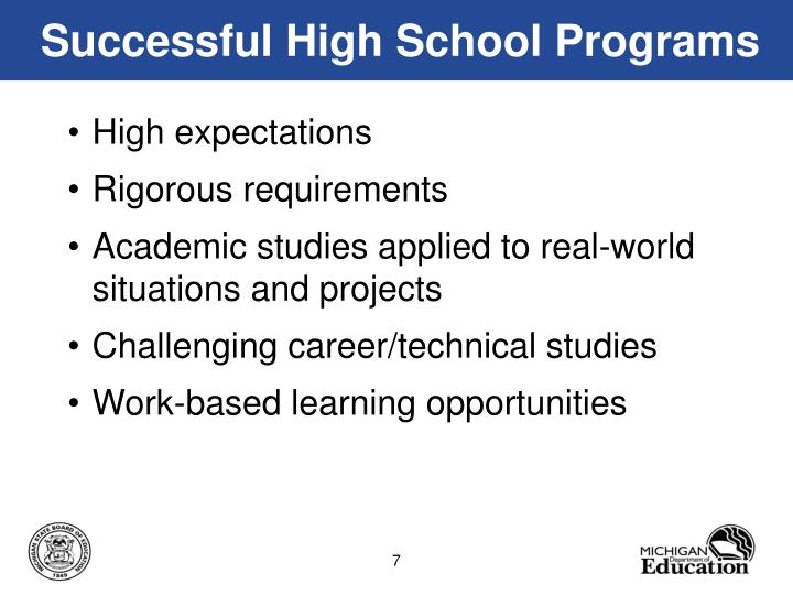 Successful High School Programs