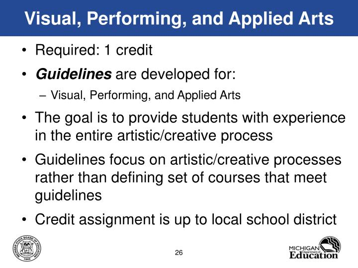 Visual, Performing, and Applied Arts