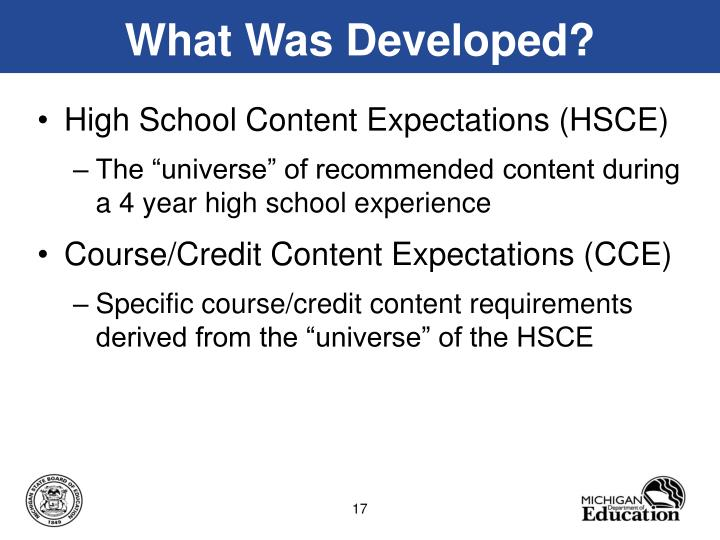 What Was Developed?