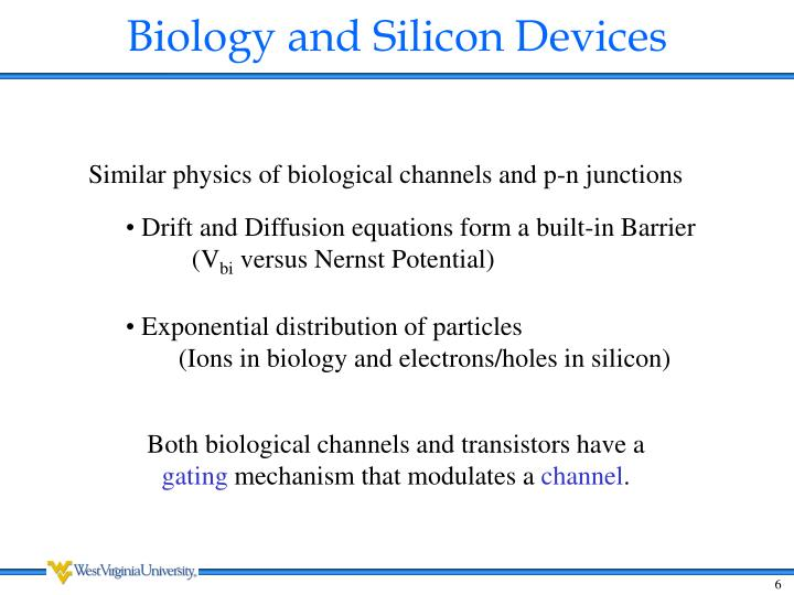 Biology and Silicon Devices