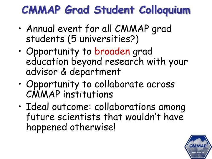 CMMAP Grad Student Colloquium