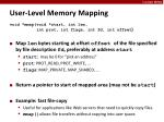 user level memory mapping1