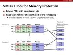 vm as a tool for memory protection