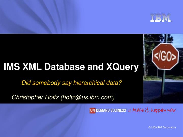 ims xml database and xquery n.
