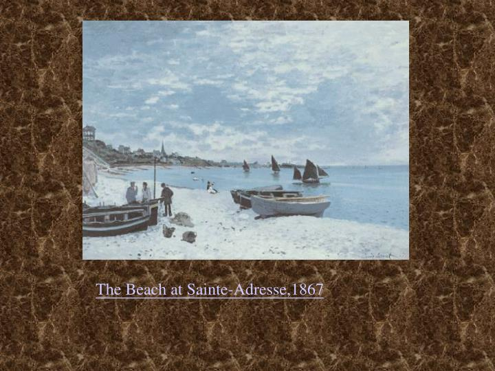the beach at sainte adresse