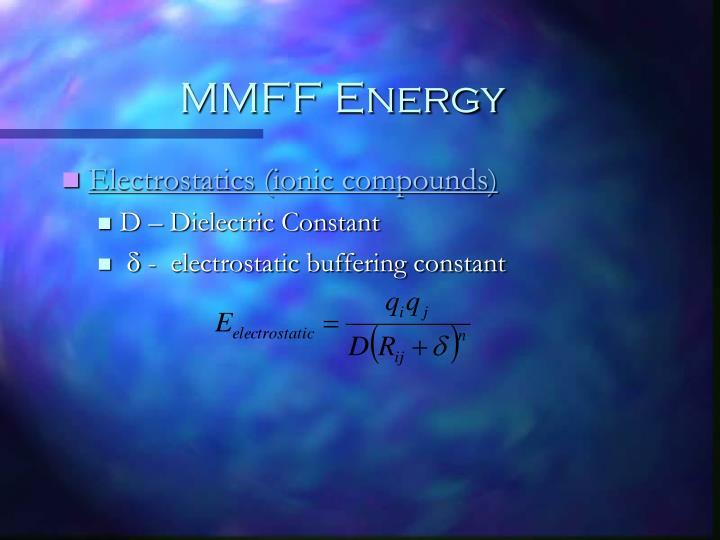 MMFF Energy