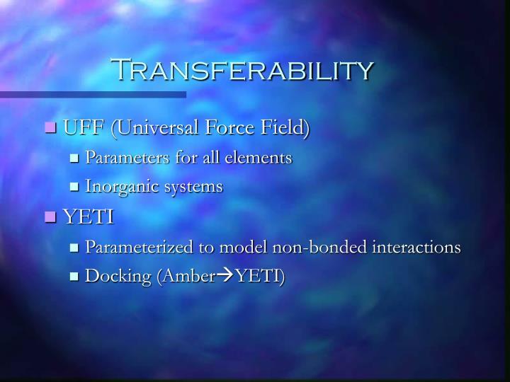 Transferability